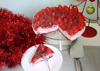 Mixed Berry Chocolate Cheesecake